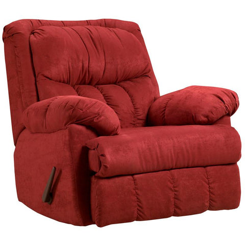 Flash Furniture 2500SENSATIONSREDBRICK-GG Exceptional Designs Sensations Red Brick Microfiber Rocker Recliner - Peazz.com