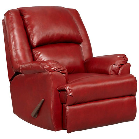 Flash Furniture 2600SIERRARED-GG Exceptional Designs Sensations Red Brick Leather Rocker Recliner - Peazz.com