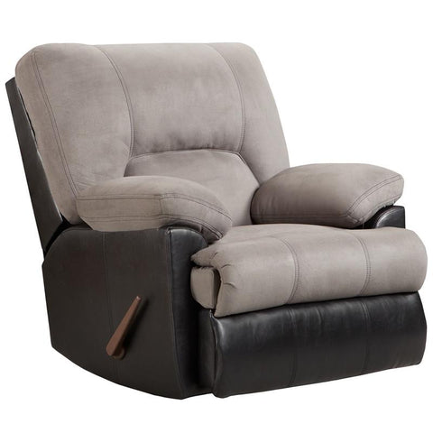 Flash Furniture 2800LAREDOGRAPHITE-GG Exceptional Designs Laredo Graphite Microfiber Rocker Recliner - Peazz.com
