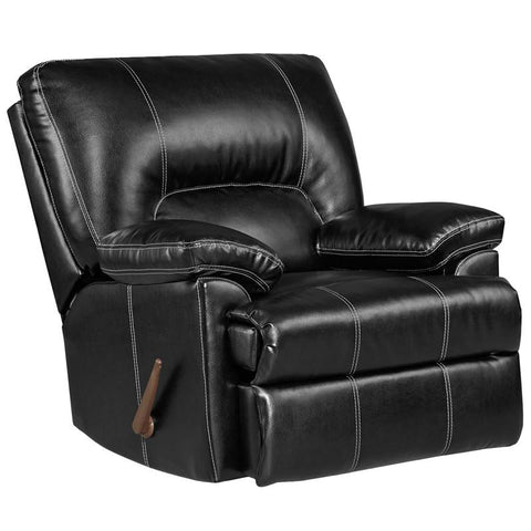 Flash Furniture 2800TAOSBLACK-GG Exceptional Designs Taos Black Leather Rocker Recliner - Peazz.com