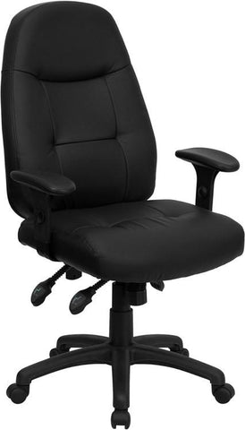 High Back Black Leather Executive Office Chair BT-2350-BK-GG by Flash Furniture - Peazz.com