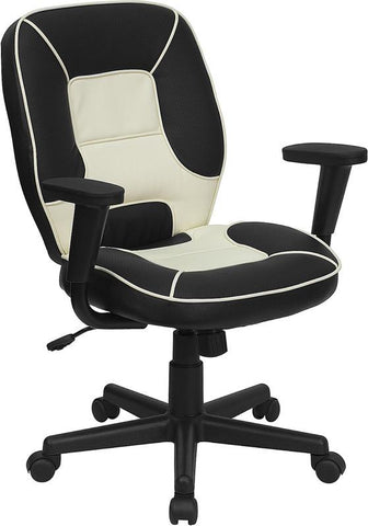 Mid-Back Vinyl Steno Executive Office Chair BT-2922-BK-GG by Flash Furniture - Peazz.com