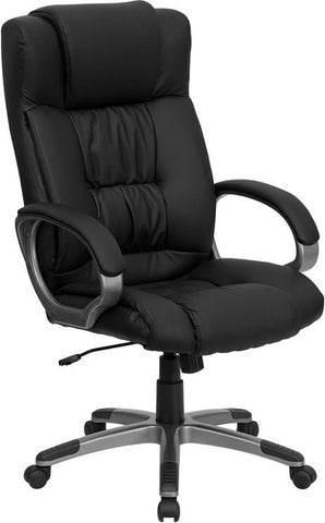 High Back Black Leather Executive Office Chair BT-9002H-BK-GG by Flash Furniture - Peazz.com