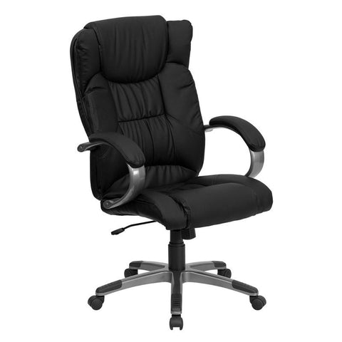 High Back Black Leather Executive Office Chair BT-9088-BK-GG by Flash Furniture - Peazz.com