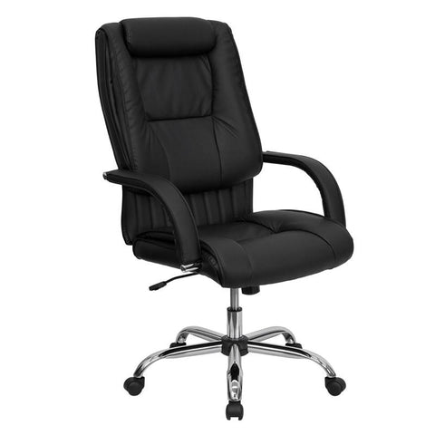 High Back Black Leather Executive Office Chair BT-9130-BK-GG by Flash Furniture - Peazz.com