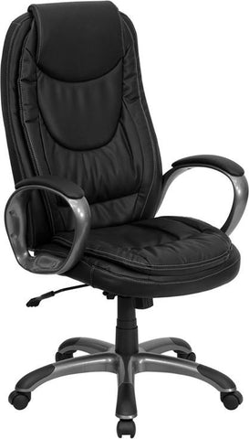 Flash Furniture CH-CX0068H04-GG High Back Black Leather Executive Swivel Office Chair - Peazz.com