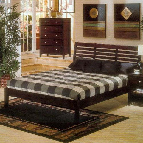 Alpine PB-11 QDC Queen Platform Bed Dark Cherry - Peazz.com