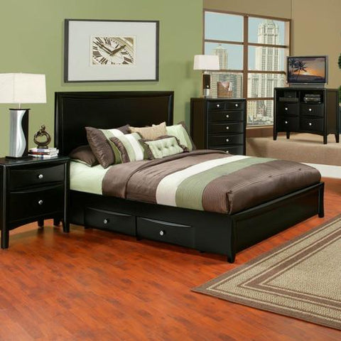 Alpine TA-01 Q Queen Storage Platform Bed - Peazz.com