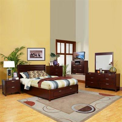 Alpine TA-07 EK Eastern King Storage Platform Bed - Peazz.com