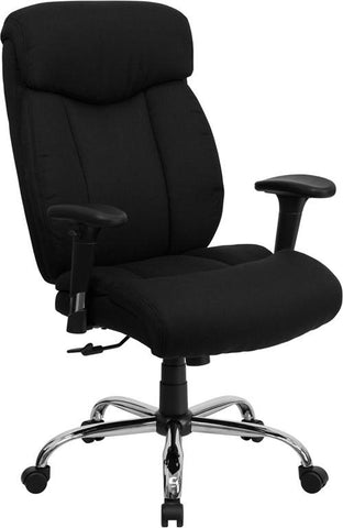 HERCULES Series 350 lb. Capacity Big & Tall Black Fabric Office Chair with Arms GO-1235-BK-FAB-A-GG by Flash Furniture - Peazz.com