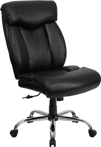HERCULES Series 350 lb. Capacity Big & Tall Black Leather Office Chair GO-1235-BK-LEA-GG by Flash Furniture - Peazz.com