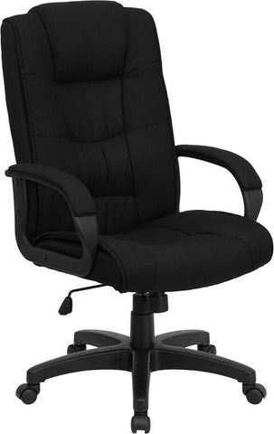 High Back Black Fabric Executive Office Chair GO-5301B-BK-GG by Flash Furniture - Peazz.com