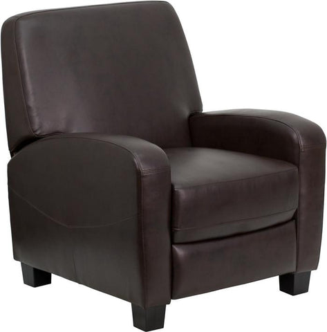 Brown Leather Push Back Recliner MEN-DSC01067-BRN-GG by Flash Furniture - Peazz.com