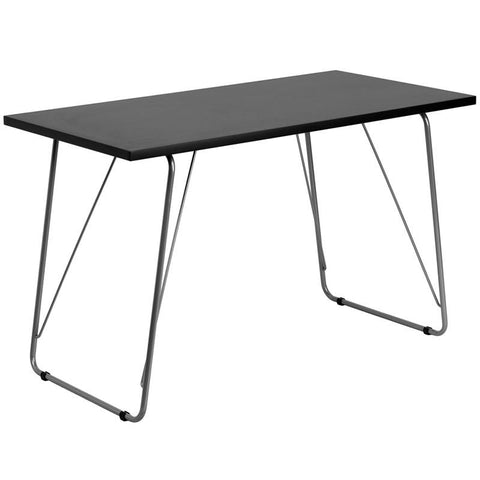 Flash Furniture NAN-JN-2956-BK-GG Black Computer Desk with Silver Frame - Peazz.com