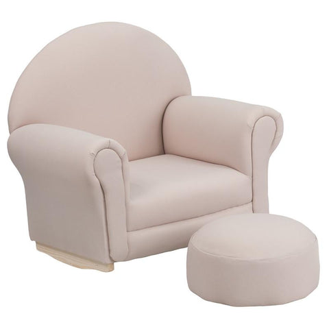 Flash Furniture SF-03-OTTO-BGE-GG Kids Beige Fabric Rocker Chair and Footrest - Peazz.com