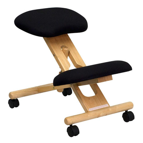 Wooden Ergonomic Kneeling Posture Office Chair WL-SB-210-GG by Flash Furniture - Peazz.com