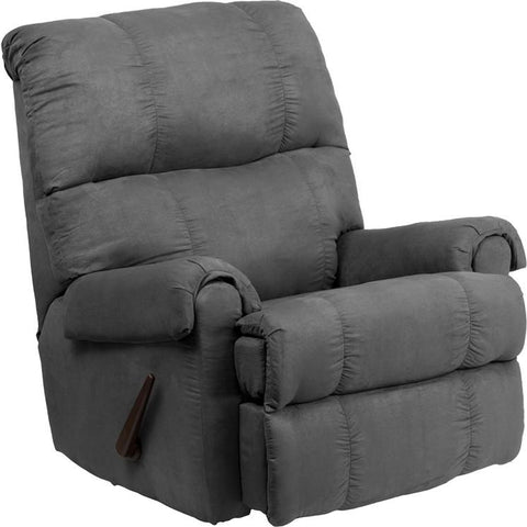 Flash Furniture WM-8700-113-GG Contemporary Flatsuede Graphite Microfiber Rocker Recliner - Peazz.com