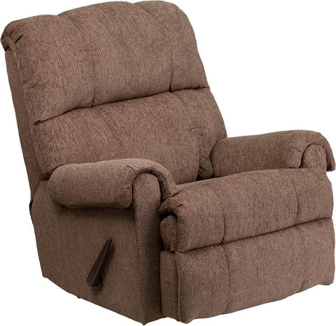 Flash Furniture WM-8700-210-GG Contemporary Tahoe Bark Chenille Rocker Recliner - Peazz.com