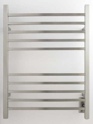Amba Products Towel Warmer RSWH-B Radiant Square Hardwired - Brushed - Peazz.com