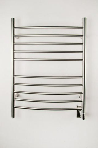 Amba Products Towel Warmer RWH-CB Radiant Hardwired Curved - Brushed - Peazz.com