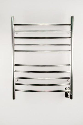 Amba Products Towel Warmer RWH-CP Radiant Hardwired Curved - Polished - Peazz.com