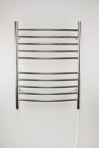 Amba Products Towel Warmer RWP-CB Radiant Plug-in Curved - Brushed - Peazz.com