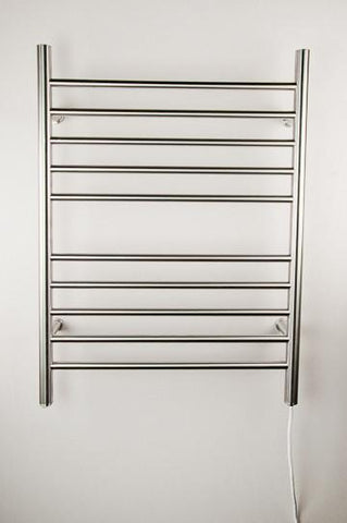Amba Products Towel Warmer RWP-SB Radiant Plug-in Straight - Brushed - Peazz.com