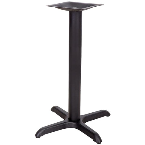 22'' x 22'' Restaurant Table X-Base with 3'' Table Height Column XU-T2222-GG by Flash Furniture - Peazz.com