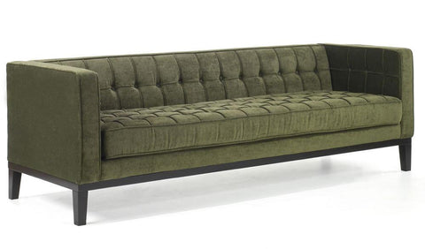Roxbury Sofa In A Tufted Green Fabric by Armen Living - Peazz.com