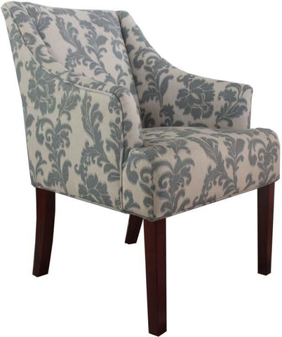 Armen Living LC2988CLGR iKat fabric accent chair - Peazz.com