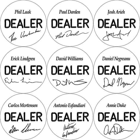 Trademark Commerce 16-PROS5500Set Set Of 10 Professional Collector'S Dealer Buttons - Peazz.com