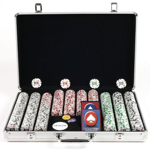 Trademark Commerce 10-1003-650SDX 650 11.5G 4 Aces Poker Chip Set W/Executive Aluminum Case - Peazz.com