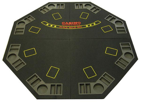 Black 4-Fold Octagon Poker/Blackjack Table Top - Peazz.com