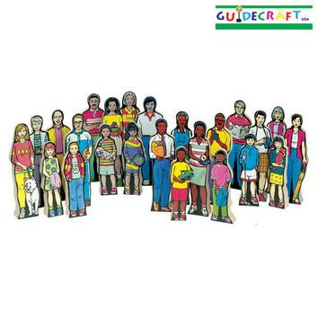 Guidecraft Multi-Cultural Family Kit Set of 24 - Peazz.com