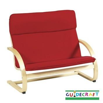 Guidecraft Kiddie Rocker Couch, Red - Peazz.com