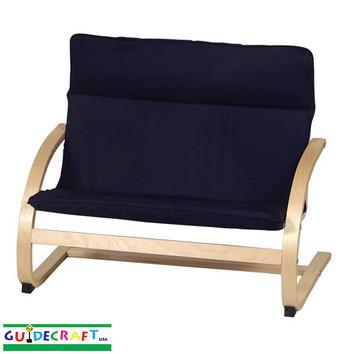 Guidecraft Kiddie Rocker Couch, Blue - Peazz.com