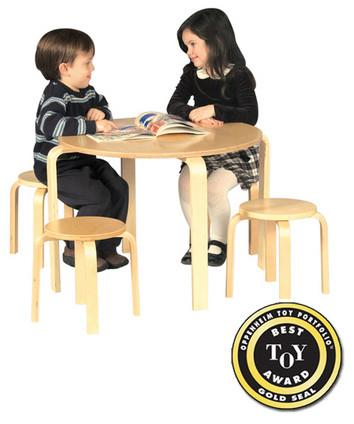 Guidecraft Nordic Table & Chairs Set - Natural - Peazz.com