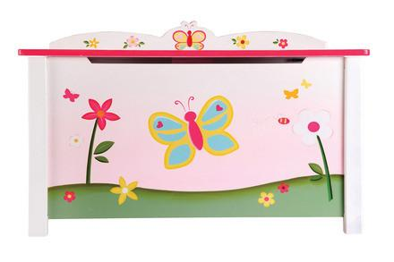 Guidecraft G86604 Butterfly Buddies Toy Box - Peazz.com