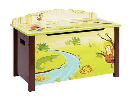 Guidecraft G86904 Jungle Party Toy Box - Peazz.com