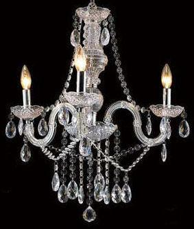 Gen-Lite 102078 Three Light Clear Acrylic Chandelier - Peazz.com