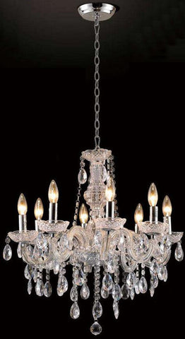 Gen-Lite 102082 Eight Light Clear Acrylic Chandelier - Peazz.com