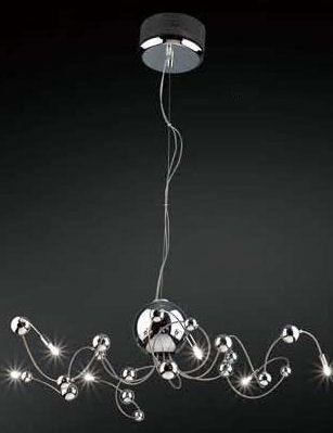 Gen-Lite 102115 Chrome Six Light Fixture with Chrome Glass Balls - Peazz.com