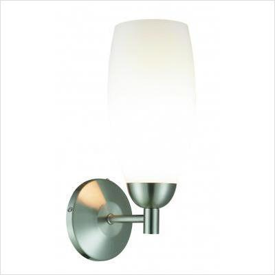 Gen-Lite 102139 One Light Brushed Nickel Vanity Wall Lamp - Peazz.com