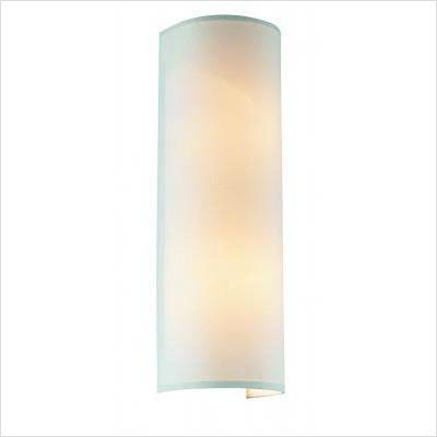 Gen-Lite 103816 BrushedS Table Lamp 2 Light Wall Lamp White Shade - Peazz.com