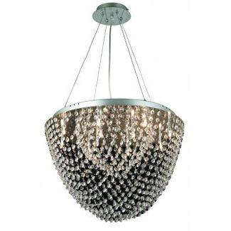Gen-Lite 103960 12 Lights Halogen Crystal Dome Shape Pendant - Peazz.com