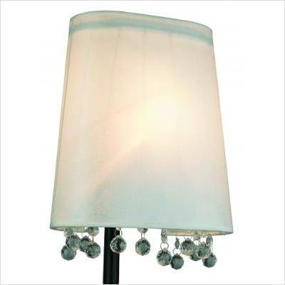 Gen-Lite 104015 Chrome 1 Light Wall Lamp with Crystals - Peazz.com