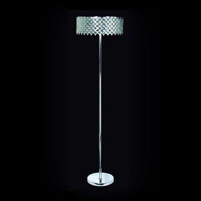 Gen-Lite 104331 Three Light Chrome Floor Lamp With Crystals - Peazz.com