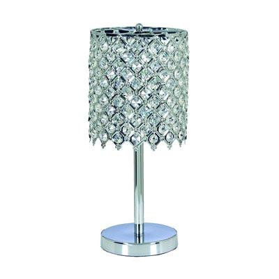 Gen-Lite 104334 One Light Chrome Table Lamp With Crystals - Peazz.com