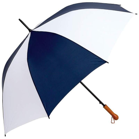 "All-Weather Elite Series 60"" Navy and White Auto Open Golf Umbrella - Peazz.com"