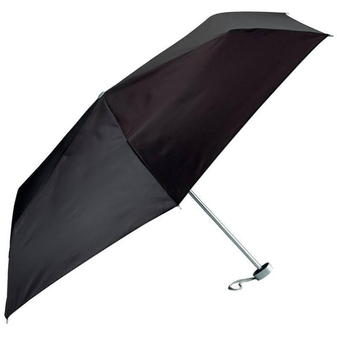 All-Weather Solid Black Mini Umbrella - Peazz.com
